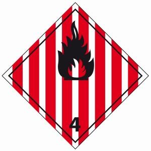 ADR 4 brandbare vaste stoffen