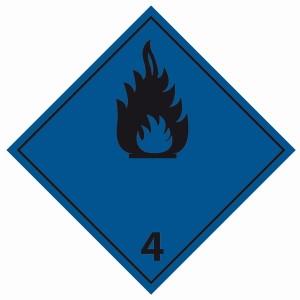 ADR 4 stoffen die in contact met water brandbaar gas ontwikkelen