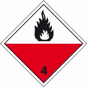 ADR 4 zelfontbranding vatbare stoffen